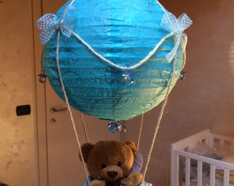 Hot air balloon birth/Baptism Blue