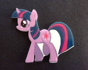 5pc Twighlight Sparkle, My little Pony Planar Flatback,