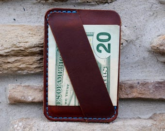 Leather Minimalist Wallet, Slim Wallet, Cash Strap, Groomsmen Wallet, Front Pocket Wallet, Monogram Wallet, Personalized Wallet, Thin Wallet