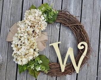 Initial wreath/hello wreath/custom wreath