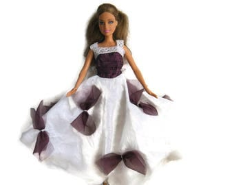 Barbie clothing doll bridal dress