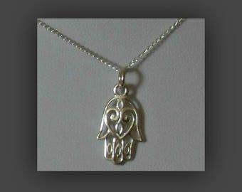 Hand Of Fatima Necklace,Silver Hand Of Fatima Necklace,Hand Of Fatima Jewelry,Silver Hamsa Hand Necklace,Hamsa Hand Necklace,Hamsa Hand