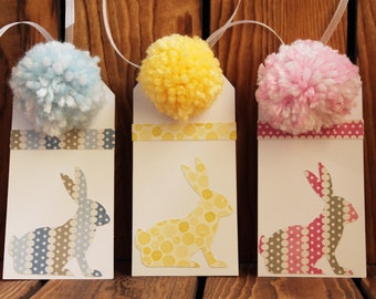 Bunny Gift Tags,Easter Gift Tags,6 Set,Gift Tags,Easter Basket Gift Tags,Easter Decor,Bunny Sign,Easter Rabbit,Baby Shower Gift Tags,Bunny
