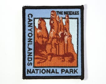 Official Canyonlands National Park Souvenir Patch - The Needles - Moab Utah Iron-on FREE SHIPPING Scrapbooking