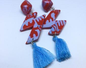Handmade Abstract Drop Tassel Earring Style