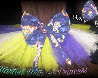 Buzz lightyear handmade tutu with matching bow !