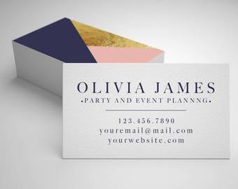 Modern Business Card // Minimal Business Card // 20% off