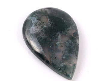 Amazing Natural Moss Agate Gemstone cabochan diffrent Style unique Design Oval Shape 39.40 cts. Size 25 X 38 X  5 MGJ 235