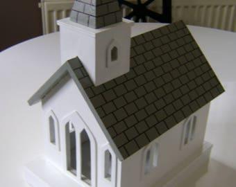 Model wooden church.