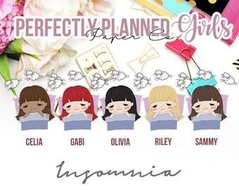 030 | Insomnia | Planner Girls Planner Stickers