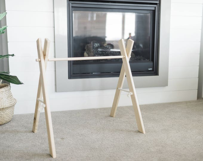 Maple Hardwood Baby Gym Frame Only ** (no beaded strands included) **