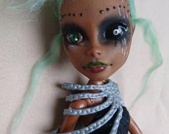 Ooak Custom Monster High Doll Cyber Punk