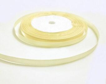 """yellow ribbon, loose ribbion, organza ribbon, satin edge ribbon, wedding supplies, 1/4""""x21.8 yards"""