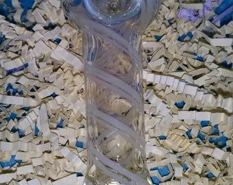 Glass tobacco pipe