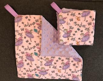 Fairies - lavender minky lovey