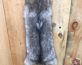 "60"" adirondack coywolf coyote tanned fur pelt"