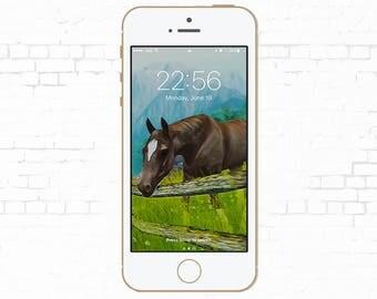 horse art, iphone wallpaper, phone wallpaper, iphone 7, iphone 7 plus, iphone 6, iphone 6s, iphone 6 plus, iphone 5, iphone 5s, iphone 5c