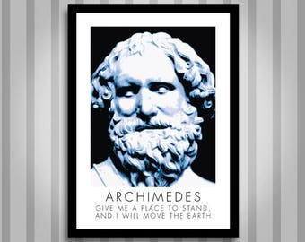 Archimedes, motivational, Inspirational, Self Development, Personal Development, Poster