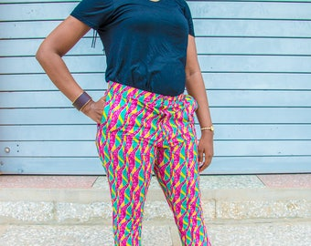 Capri Pants, Pants Capri, African print pant, African Print, Ankara clothing, Capri Trousers, Women pants, Pants, Cotton Pants, Capri Set,