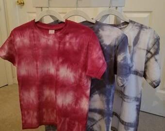 Shibori hand dyed child's t-shirt