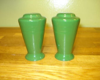 Homer Laughlin Forest Green Salt and Pepper Shakers