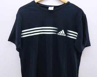 Vintage Adidas Shirt Minimal Logo Sportswear Street Wear Top Tee T-Shirt Size M
