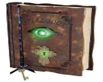 Halloween Spell Book Magic Eye Animated Decoration Party Prop Lights Sound