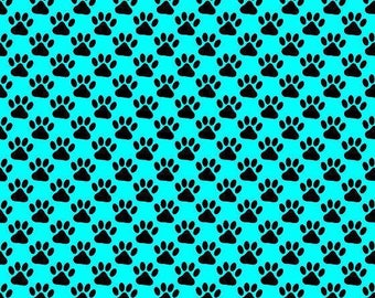Paw print/blue/auqa/printed vinyl/HTV/vinyl/651/oracal/adhesive/blanks/small business/heat transfer/