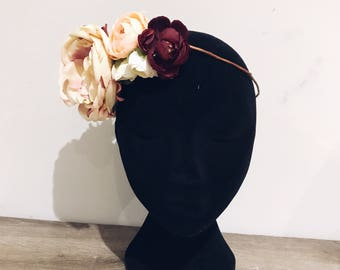 Adult flower crown. Flower Crown. Fake flower crown. Fake flowers. Photography Prop.