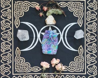 Crystal Medicine Bag ~the magic of mermaids~ Comes with a smudge stick and a surprise crystal~ Crystal Healing Medicine Bag