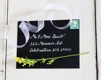 Custom Calligraphy Envelope Addressing Classic Style