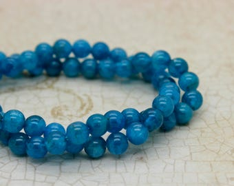High Quality Apatite Round Gemstone Beads (3mm 4mm 5mm 6mm)
