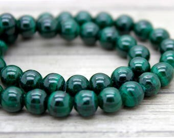 Malachite Round Beads Natural Stone Gemstone (6mm 8mm 10mm)