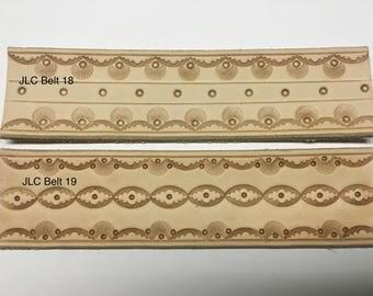Handtooled leather belt (natural)