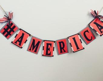 SALE PRICE on America Word Garland