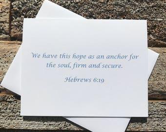 Hebrews 6:19 Bible Verse Note Card