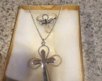 Cross Necklace and Ring
