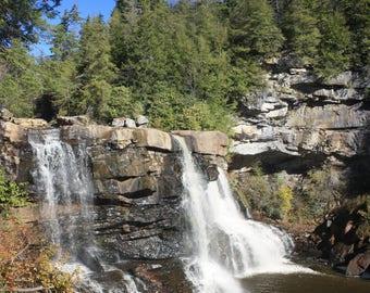 Almost Heaven Wild Wonderful West Virginia Blackwater Falls Metallic Photo Photograph