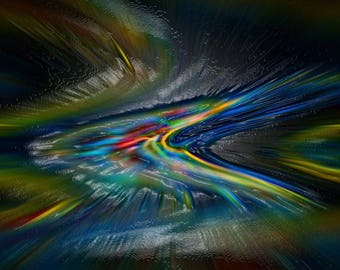 On the right way - abstract Digital Art