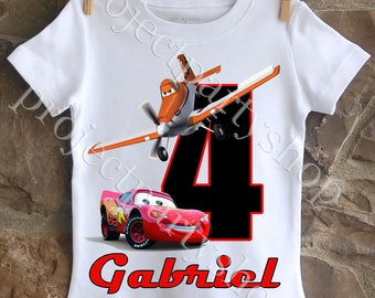Cars and Planes Birthday Shirt