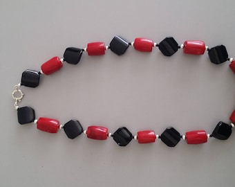 Coral Onyx Necklace