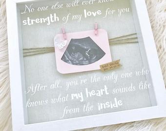 Baby Scan Shadow Box, Sonogram Frame, Strength of My Love, Baby Scan Frame, 10 x 10 Shadow Box, Baby Photo Frame