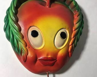 Miller Studios Anthropomorphic Apple 1970s Mid Century Kitchen Chalkware