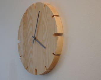 Wall clock wood industry design 35cm