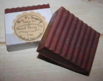 Mixed Berry Handmade Maroon Soap