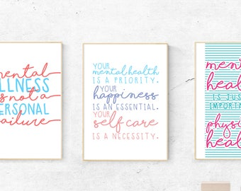 3 Poster Bundle | A4 mental health Posters|