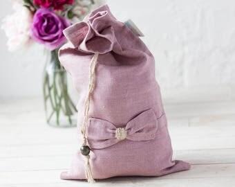 Linen lingerie bag - travel lingerie bag - lingerie organizer - bra organiser