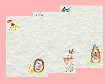 letter paper set autumn - weheartconfetti