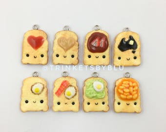 Toast Polymer Charms