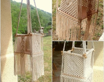 Macrame hanging kids Chair